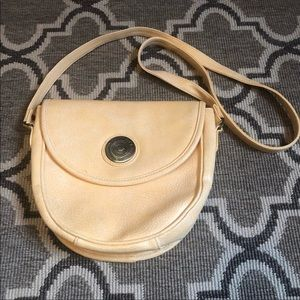 Vintage Baronet Cream Shoulder Flap Bag